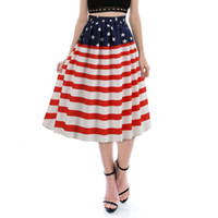 Women Skirt Female Print United States Skirt Fashion America...