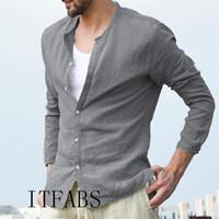 Camicia Uomo Camicie Europa Dimensioni Nuovi arrivi Slim Fit biancheria maschile shirt manica lunga Solid britannico del cotone degli uomini di stile