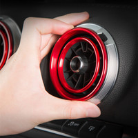 Auto Stylingkonsole Klimaanlage Entlüftungsrahmen Abdeckungsbesatz für Audi A3 8V 2013-2019 Innenausstattung Air Outlet Kreis Abziehbilder