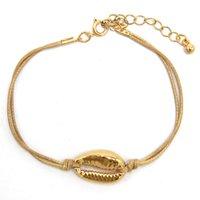 Monili della lega Shell braccialetto Handmade braccialetto di fascino Boemia Accessori di moda ragazza di colore della caramella Uomini Bracciali Trend intrecciato Beach per le donne