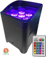 10pcs 앱 컨트롤 Uplighting 육각 6 * 18W 6in1 RGabw UV LED 배터리 프로젝터 LED 비 덮개와 결혼식을위한 램프