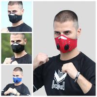 Nel filtro della maschera di protezione con respiratori Valve PM2.5 Bocca di protezione Maschera Maschere elastico anti polvere di protezione antipolvere Uomini Donne