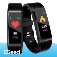 Для цветной экран ID115 Plus Смарт браслет Фитнес Tracker диапазона пульса Монитор артериального давления рк Wristband м3