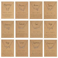CR المجوهرات وصول جديد Dogeared قلادة مع بطاقة هدية 12 كوكبة قلادة للنساء الأزياء والمجوهرات الشحن مجانا XL1C079