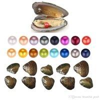 Commercio all'ingrosso 2020 Nuovo prodotto unico grande intorno alle perle 6-8mm perla naturale di ostriche Gioielli d'acqua dolce Oyster Shell fai da te per le donne del partito