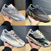 new concept 8baa8 e09f3 2019 Static Adidas Yeezy Boost 700 V2 Wave Runner Mauve EE9614 Zapatos para  correr Hombres Mujeres