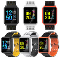 Pressão N88 relógio inteligente Sangue Heart Rate Monitor de Pulseira de Fitness Rastreador IP68 impermeável inteligente Relógio de pulso para iOS Android Phone Watch