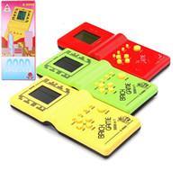 Klasik Tetris El Eğlence Tuğla Oyunu Riddle Avuç İçi Oyun e9999 oynamak Çocuklar için Elektronik Oyun Oyuncak Konsolu Held