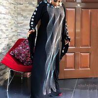 ملابس عرقية بنغلاديش دبي لباية طويل حجاب مساء اللباس للنساء العربية الشيفون الإسلامية جويلابا القفطان ماروكين بلس