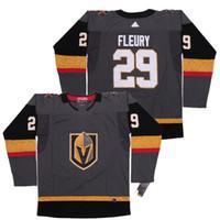 Vegas Golden Knights Jersey 29 Marc-Andre Fleury Hockey Jersey Bordado fino, tecido de alta qualidade, durável e respirável