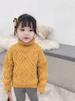 2019 New Style Children Turtleneck Sweater Winter Boys and G...