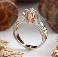 womens classico modo dell'anello di nozze gioielli della pietra preziosa di cerimonia nuziale Anelli Day gioielli regalo di San Valentino Hight qualità Nuove