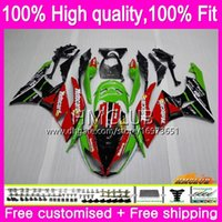 OEM Injection For KAWASAKI ZX600 CC ZX636 ZX-6R ZX6R 09 10 11 12 54HM.3 ZX 636 600CC ZX-636 ZX 6R 2009 2010 2011 2012 Fairing Red Green