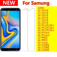 2.5D Klar härdat glas Telefon Skärmskydd för Samsung Galaxy J260 J2 J3 J6 J7 J8 Plus Prime Pro Core 2018 J4Plus J6Plus J8Plus