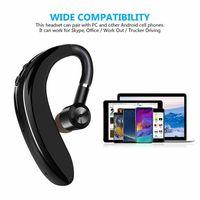 소매 패키지와 아이폰에 대한 10 개 S109 이어 후크 블루투스 이어폰 무선 헤드셋 Nosice 취소 HD MIC 핸즈프리 비즈니스 드라이버