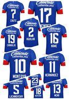 Özel 18-19 erkek Tay Kaliteli Futbol Formaları, Özelleştirilmiş 18 Renteria 10 Montoya 13 Mena 5 Lichnovsky 23 Marcone 5 Lichnovsky Futbol Giyim