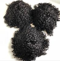 Homens Sistema de Cabelo Peruca Homens Hairpieces Corpo Curva Laço Completo Toupee Jet Black # 1 Europeu Virgin Remy Human Cabelo Substituição para homens negros