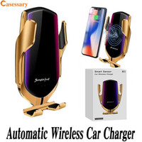 R1 Infrared Sensor Wireless Car Charger Automatic Clamping F...