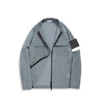 Topstoney 2021 Konng Gonng Jacket 유행 브랜드 레저 봄과 가을 얇은 코트 크로스 테두리 특수 윈드 브레이커 금속 나일론 원단