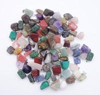 Ciondoli in pietra naturale Giada irregolare Collana con ciondolo in pietra naturale Pietra opaca Quarzo Gioielli opale NO CATENA K5354