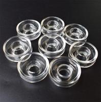 25mm 22mm OD Quartz Plat Bol pour Quartz Banger Titanium Domeless Remplaçable Nail Oil Rig Verre Tuyaux D'eau Bongs Accessoires