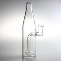 14mm weibliche glas wasserbongs mit hukeah 7,5 zoll dick pyrex clear bier flasche recycler stecker becherbier für rauchen