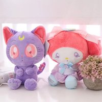 25CM Creative Cartoon Animal Sailor Moon Luna Cat and Meiled...