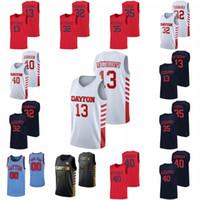 Dayton Flyers Basketball Jersey Kostas Antetokounmpo 1 Obi Toppin 3 Trey Landers 2 Ibi Watson 40 Johnson 0 Rodney Chatman NCAA Jersey personnalisé