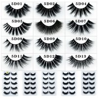 5 pairs eyelashes 5D mink lashes natural long 1 box mink eye...