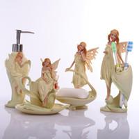 Avrupa Banyo Seti Diş Fırçası Tutucu Diş Macunu Dağıtıcı Sabunluk Set Banyo Takımları Banyo Dekorasyon Aksesuarları