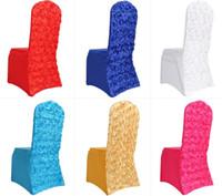 Housses de chaise Spandex Chaise de mariage Couverture pour Weddings Banquet Hôtel chaise décoration Couverture facile à monter Lavable