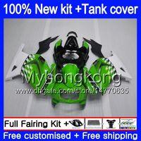 + Tank voor Kawasaki ZX-250R EX-250 ZX250R 08 09 10 11 12 Groen wit 201MY.3 EX250 ZX 250R EX 250 EX250R 2008 2009 2010 2011 2012 Valerijen