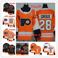 Jeunesse personnalisée 17 Wayne Simmonds Philadelphia Flyers Jerseys 93 Jakub Voracek 79 Carter Hart 87 Sidney Crosby 28 Claude Giroux Jersey de hockey