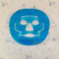 Gel frío Compresor de hielo Mascarilla Facial Mascarilla refrescante facial de verano azul Antifatiga Contratante Almohadilla de alivio con compresas frías Herramienta de cuidado faical