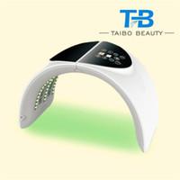 الصمام الفوتون قناع الوجه والرقبة العلاج الديناميكي PDT العناية بالبشرة تجديد 7 ألوان آلة الجمال
