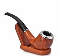 Fabrication artisanale en bois massif de tuyaux en bakélite courbes rétro, accessoires pour fumeurs de pipe en bois neufs pour hommes en gros