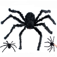 75 centímetros Halloween Grande Realistic Aranha peludo Decoração assustador Horror Casa Prop Partido Plush Halloween Toy favores Supplies JK1909XB