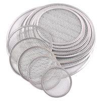 Pizza Pan Net Aluminio Forma redonda Placa de piedra Bandeja de tarta Herramientas para hornear Tallas múltiples QW9357