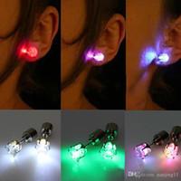 Флэш-серьга Шпилька Строб LED серьги Свет Строб LED Светящиеся серьги партии Магниты Серьга огни