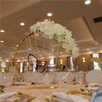 Círculo de Flor Redonda Suporte de Metal De Ouro Floral Vaso Rack Arranjos De Flores Decorativas Titular Do Casamento Decoração de Mesa