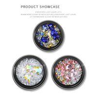Gioielli Charms decorazione di arte 1Box Nail Strass rettangolo posteriore piana lucido di cristallo 3D Strass pietra di gemma manicure del chiodo