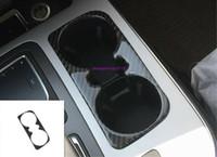 Véritable garniture de cadre de porte-gobelet d'eau en siège arrière pour Audi Q7 2016-2019