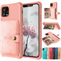 Магнитный телефон чехол для iPhone 11 С бумажника держателя карты Hybrid Defender Luxury кожа PU Чехлы для IPhone 11 PRO MAX XR XS
