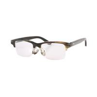 Luxo Clássico Negócios Meio Frame Chifre Lendo Óculos Chifre Óculos Ópticos Óculos Semi-Rim Horn Óculos De Sol