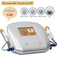 Fraccional RF Microneedle Máquina Piel láser Revestimiento Facial Removedor de arrugas Micro Needling Facial Stress Mark Simplación
