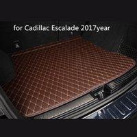 Tapis de sol personnalisé tapis de coffre de voiture en cuir anti-dérapage adapté pour Cadillac Escalade voiture 2017 années tapis anti-dérapant