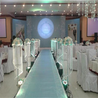altura 120 centímetros 48inch Acrílico peça central do casamento de Cristal Pillar Flower Stand corredor passagem pilar de metal estrada adereços foto chumbo