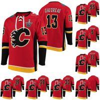 Calgary Llamas Johnny Gaudreau 2020 Stanley Cup Playoffs Jersey Hoodie Mark Giordano Mikael Backlund Matthew Tkachu David Rittich Jerseys