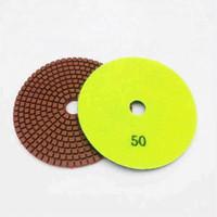 10 Peças 5 Polegadas D125mm Almofadas Abrasivas para Processamento de Superfície de Pedra 7 Passos Diamante Flexível Polimento Molhado Almofadas para Moedor de Ângulo