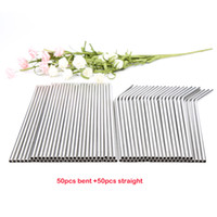 Wholessale 100pcs lot Metal Straws Reusable High Quality 304...